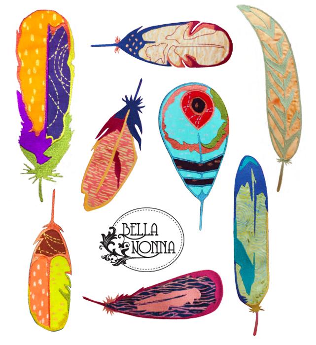 Feather Your Nest Machine Embroidery Designs Bella Nonna Design Studio